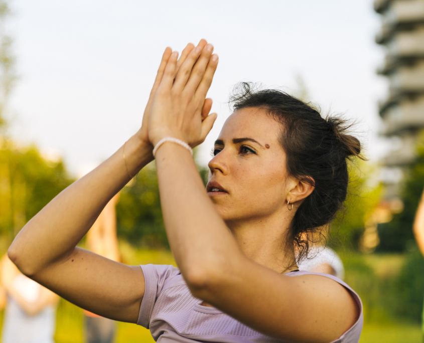 yoga like a gazzella